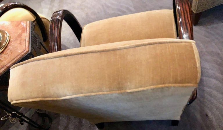 French Art Deco Bentwood Macassar Club Chairs Seating For Sale 1