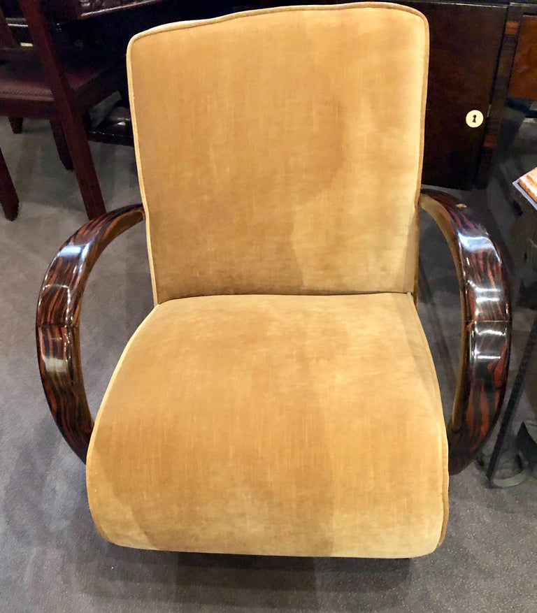 French Art Deco Bentwood Macassar Club Chairs Seating For Sale 2