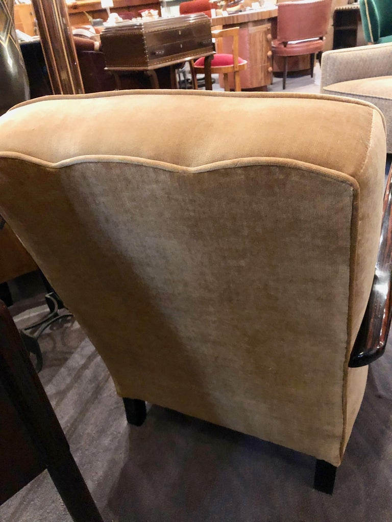 French Art Deco Bentwood Macassar Club Chairs Seating For Sale 3