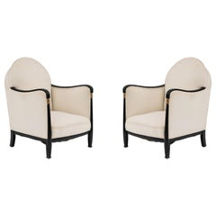 French Art Deco Bergère Armchairs