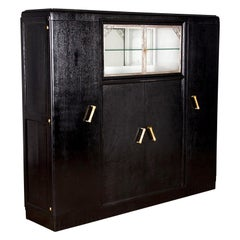 French Art Deco Black Cabinet or Armoire, 1930s