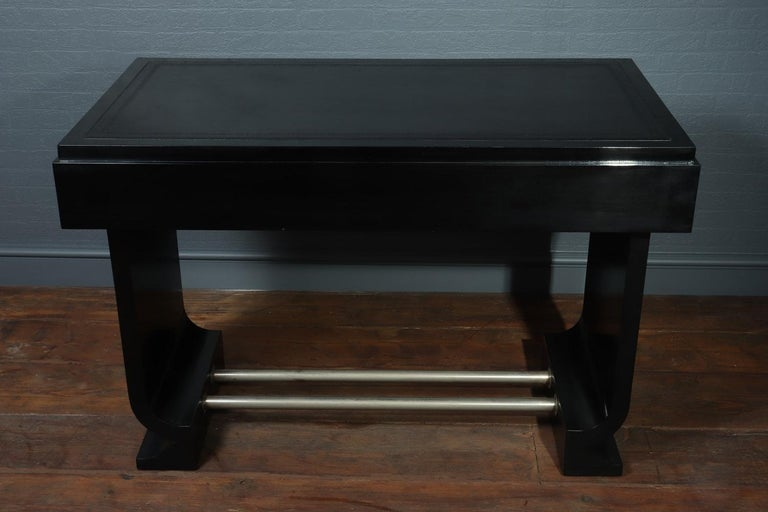 French Art Deco Black Desk, circa 1930 For Sale 7