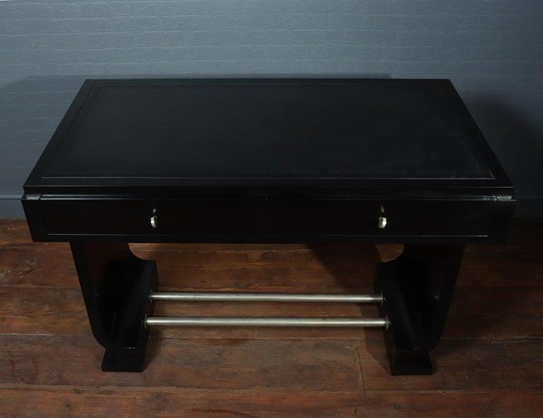 Mid-20th Century French Art Deco Black Desk, circa 1930 For Sale