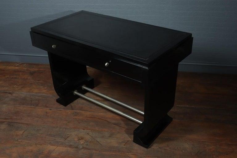 French Art Deco Black Desk, circa 1930 For Sale 2