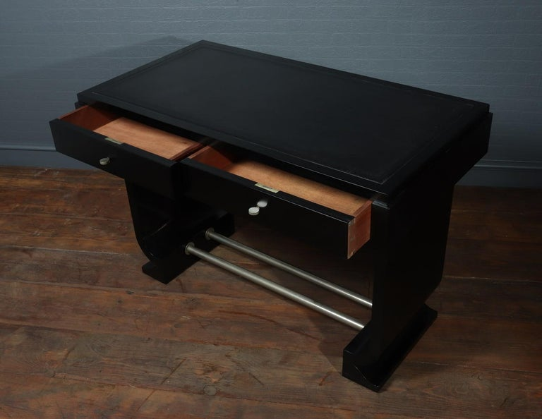 French Art Deco Black Desk, circa 1930 For Sale 4