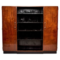 French Art Deco Bookcase Cabinet with Lucite Handles