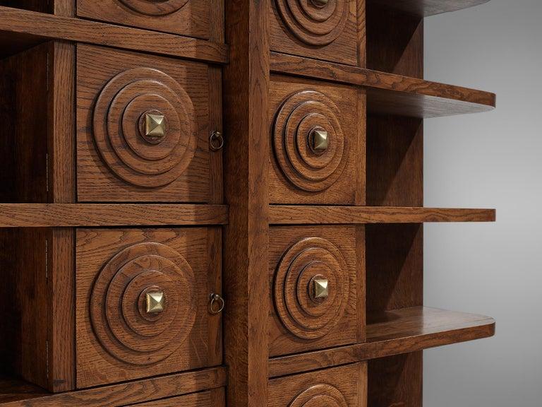 French Art Deco Bookcase in Oak For Sale 2