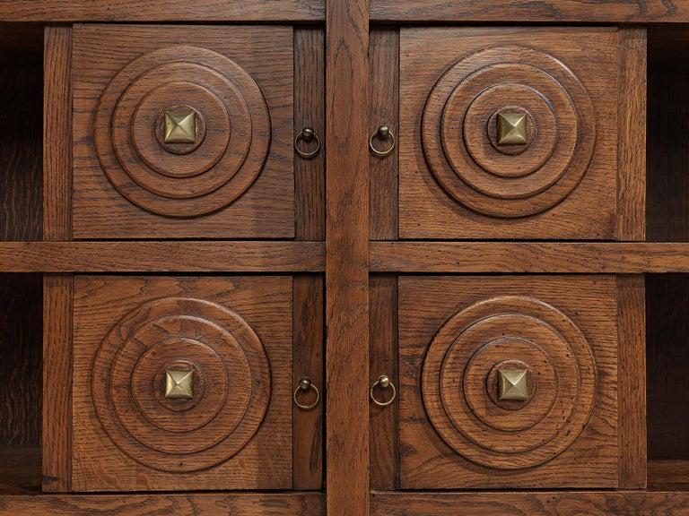 French Art Deco Bookcase in Oak For Sale 5