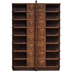French Art Deco Bookcase in Oak