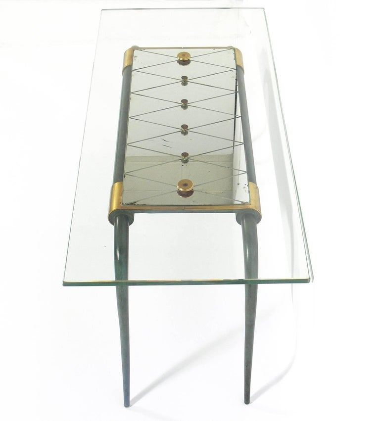 Mid-20th Century French Art Deco Bronze Coffee Table For Sale
