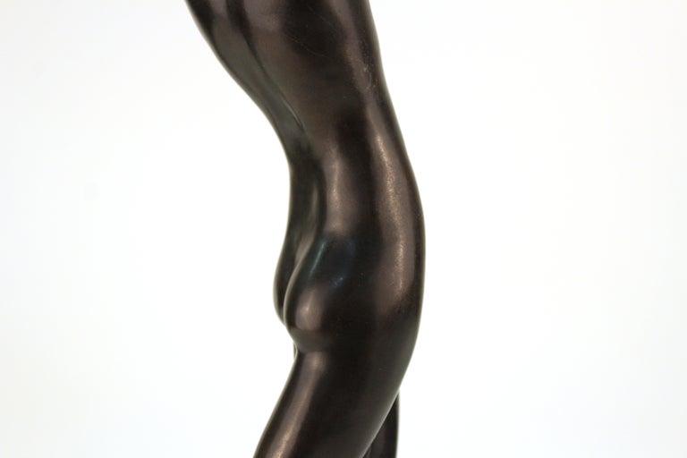 French Art Deco Bronze Dancer Sculpture For Sale 3