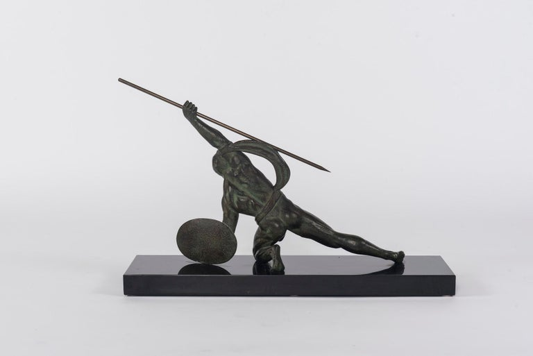 20th Century French Art Deco Bronze Figure For Sale