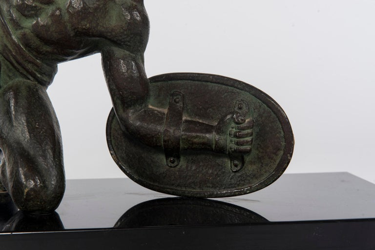 French Art Deco Bronze Figure For Sale 2