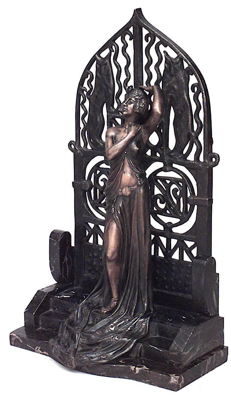 French Art Deco Bronze Figure