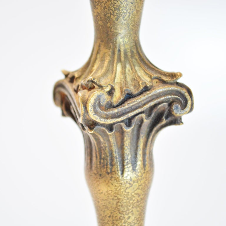 20th Century French Art Deco Bronze Floor Lamp For Sale
