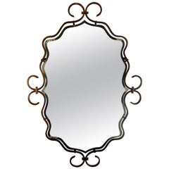 French Art Deco Bronze Mirror in the Manner of Raymond Subes