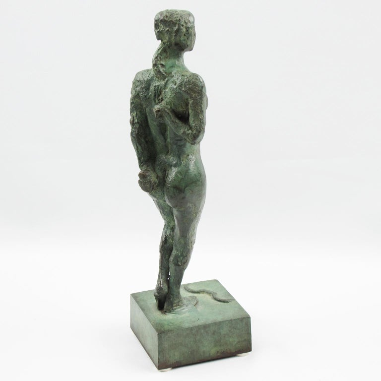 Mid-20th Century French Art Deco Bronze Sculpture Diana the Huntress or Diane Chasseresse For Sale