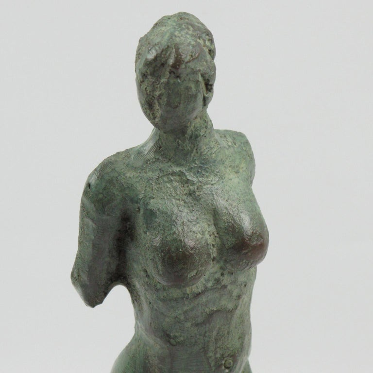 French Art Deco Bronze Sculpture Diana the Huntress or Diane Chasseresse For Sale 2