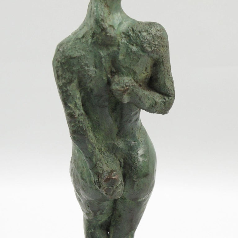 French Art Deco Bronze Sculpture Diana the Huntress or Diane Chasseresse For Sale 3