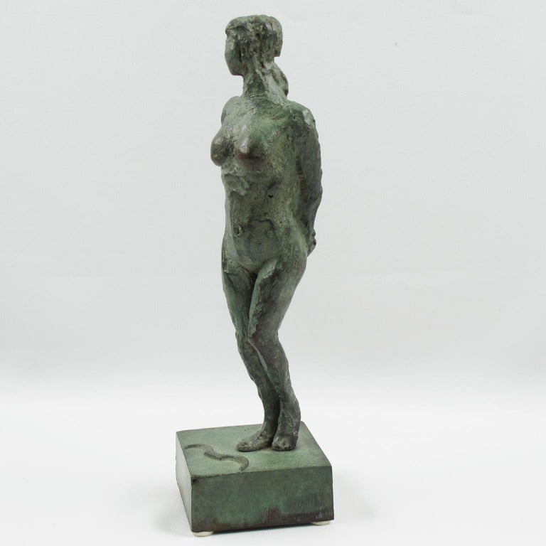 French Art Deco Bronze Sculpture Diana the Huntress or Diane Chasseresse For Sale 4