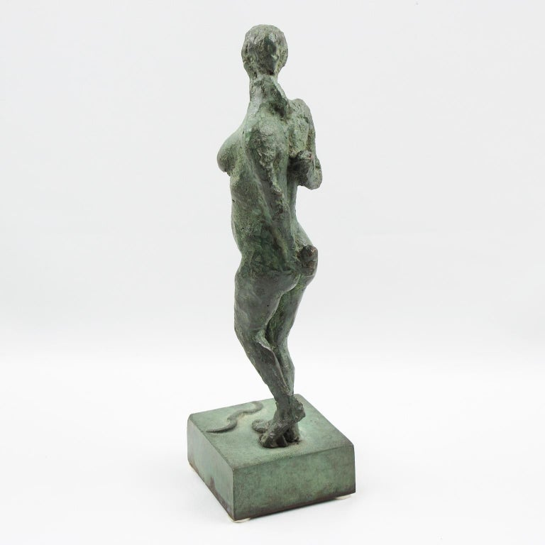 French Art Deco Bronze Sculpture Diana the Huntress or Diane Chasseresse For Sale 5