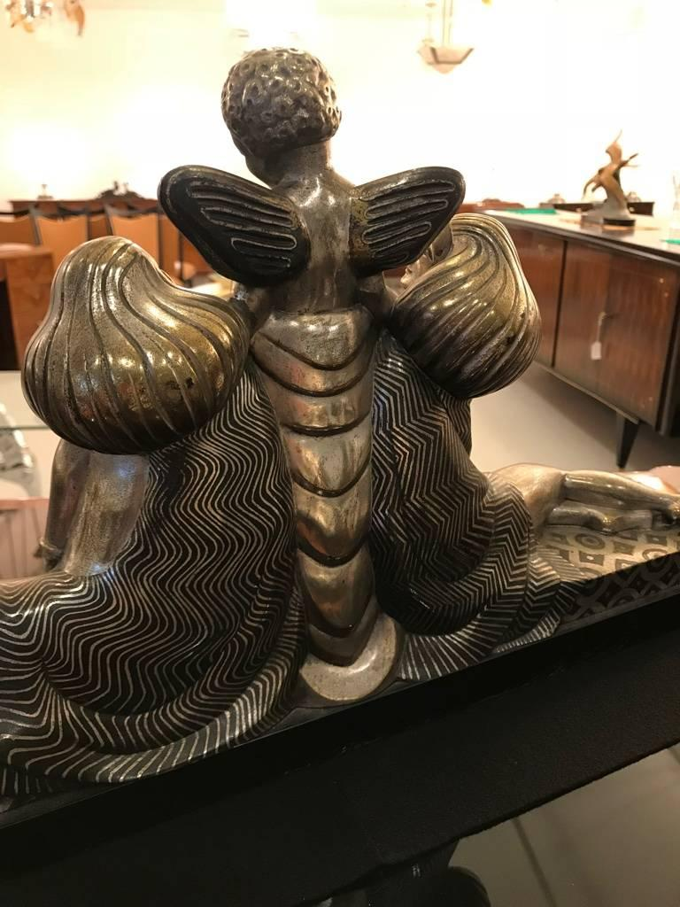 French Art Deco Bronze Sculpture Signed by Jules Delabasse For Sale 5