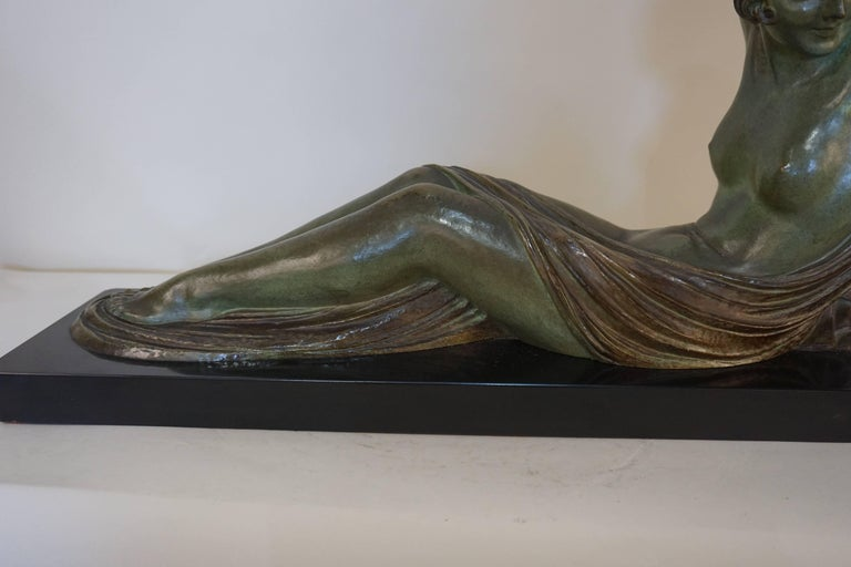 French Art Deco Bronze Seated Nude by Demeter Chiparus In Good Condition For Sale In Fairfax, VA
