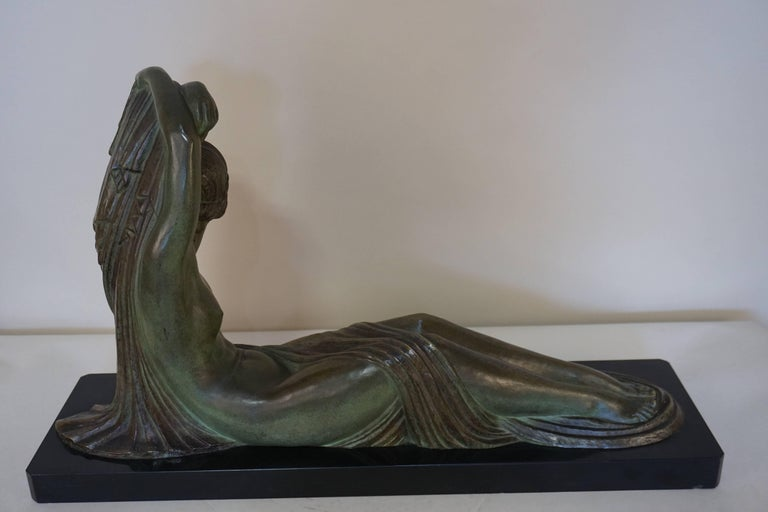 French Art Deco Bronze Seated Nude by Demeter Chiparus For Sale 3