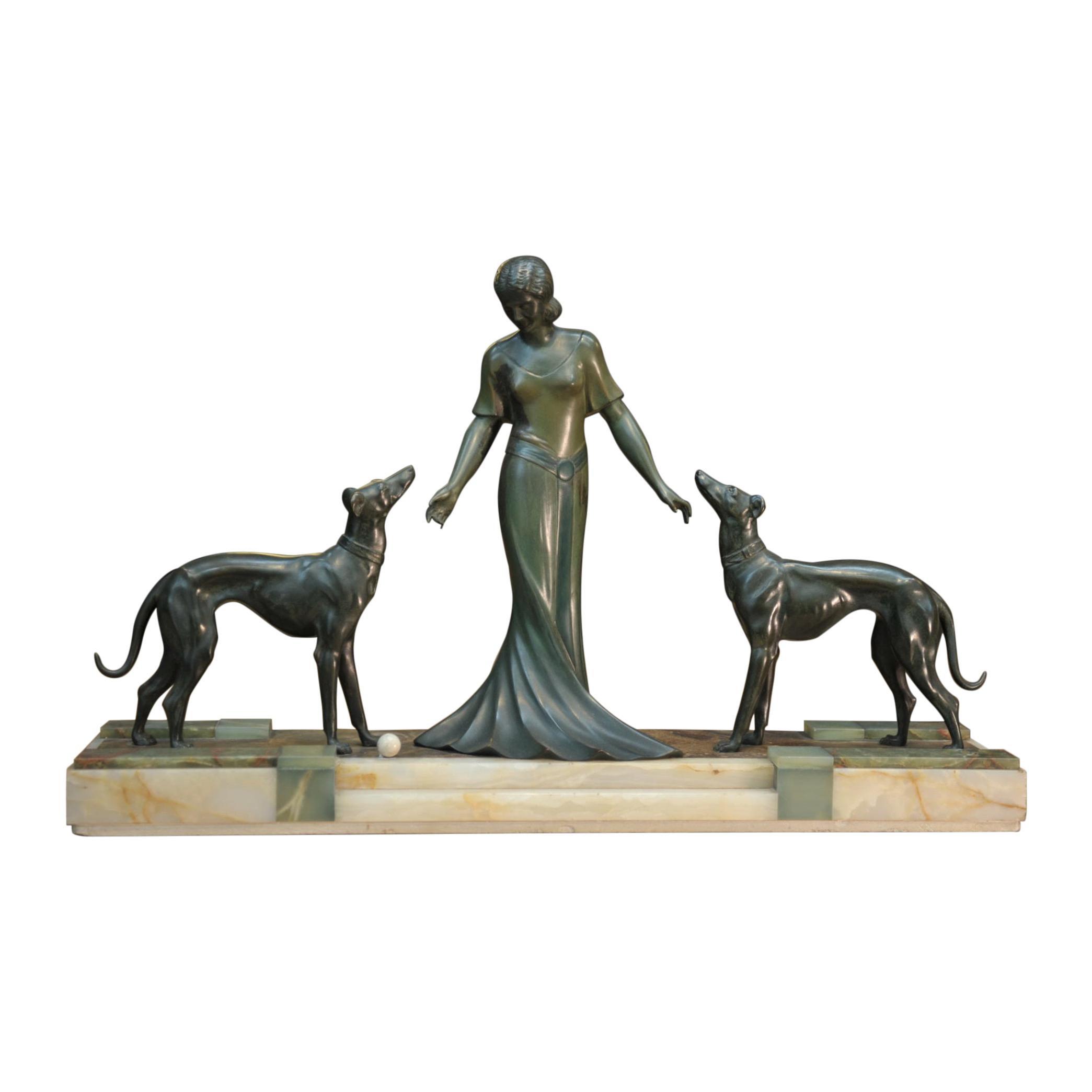 French Art Deco Bronze Statue, circa 1925