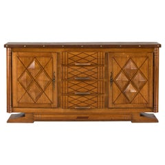 French Art Deco Brutalist Sideboard, 1930s
