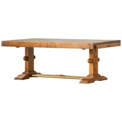 French Art Deco Brutalist Table, 1930s