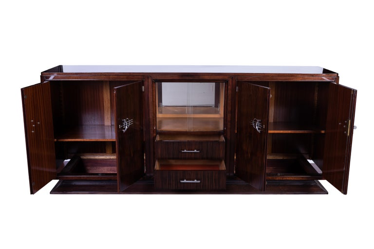 Veneer French Art Deco Buffet or Sideboard For Sale