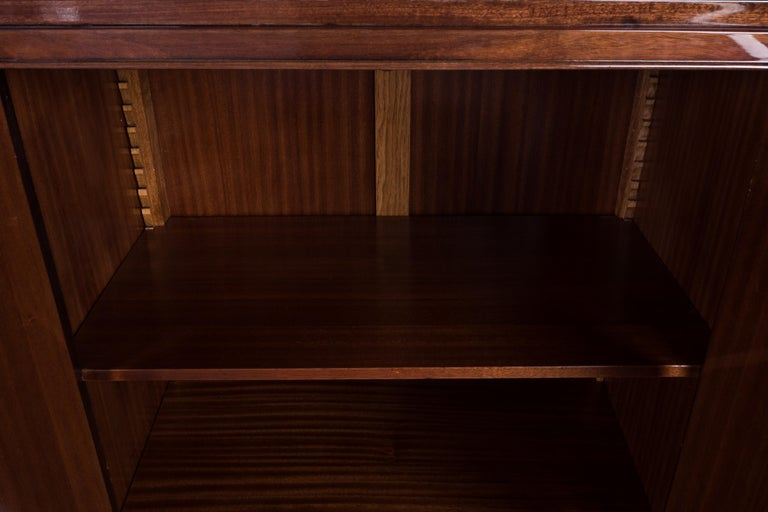 Glass French Art Deco Buffet or Sideboard For Sale