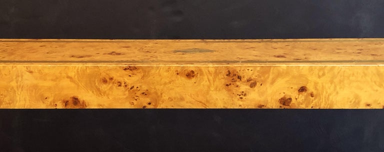French Art Deco Burr Wood Console Table Attributed to Jean Claude Mahey For Sale 14