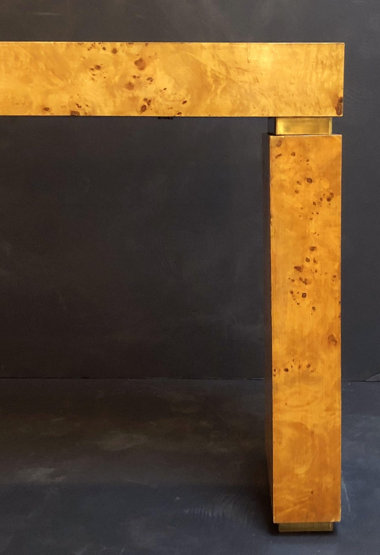 French Art Deco Burr Wood Console Table Attributed to Jean Claude Mahey For Sale 15