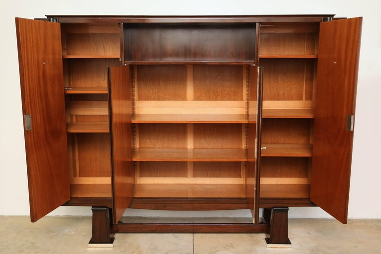 Mid-20th Century French Art Deco Cabinet in Rosewood Palissander For Sale