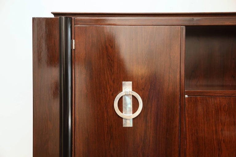 French Art Deco Cabinet in Rosewood Palissander For Sale 3