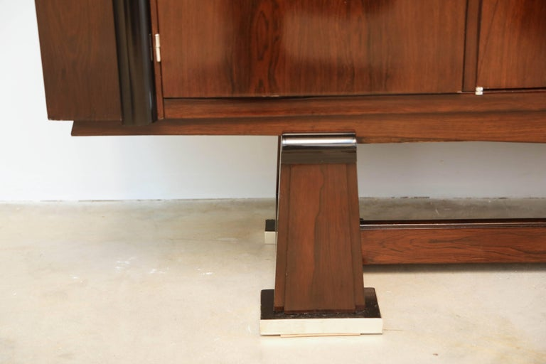 French Art Deco Cabinet in Rosewood Palissander For Sale 4
