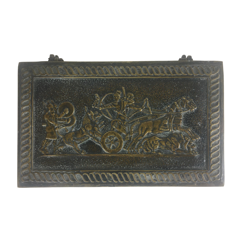 Max Le Verrier French Art Deco Cast Bronze Jewelry Box or Desk Accessory