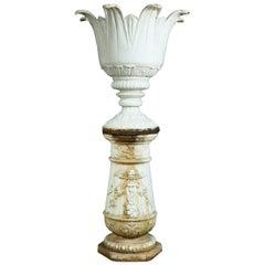 French Art Deco Cast iron Urn on Plinth