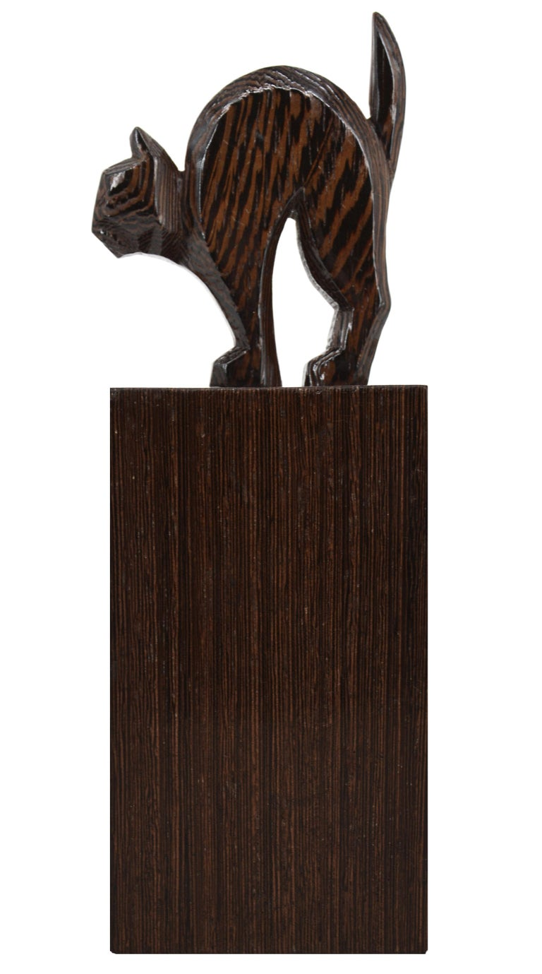 French Art Deco Cat and Dog Bookends, 1930s In Good Condition For Sale In Saint-Amans-des-Cots, FR