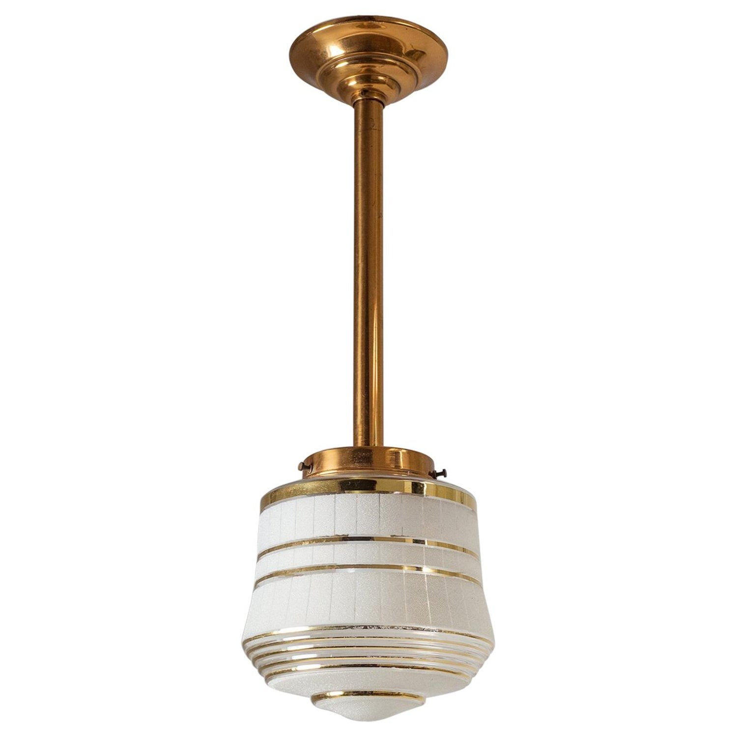 French art deco ceiling light 1940s for sale at 1stdibs
