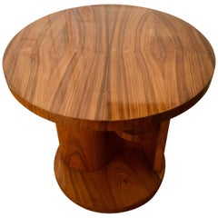 French Art Deco Center Table in Walnut Veneer, 1930