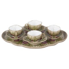 French Art Deco Ceramic Coffee Set by C.Brun, 1935