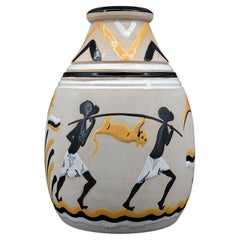 French Art Deco Ceramic Vase, 1931
