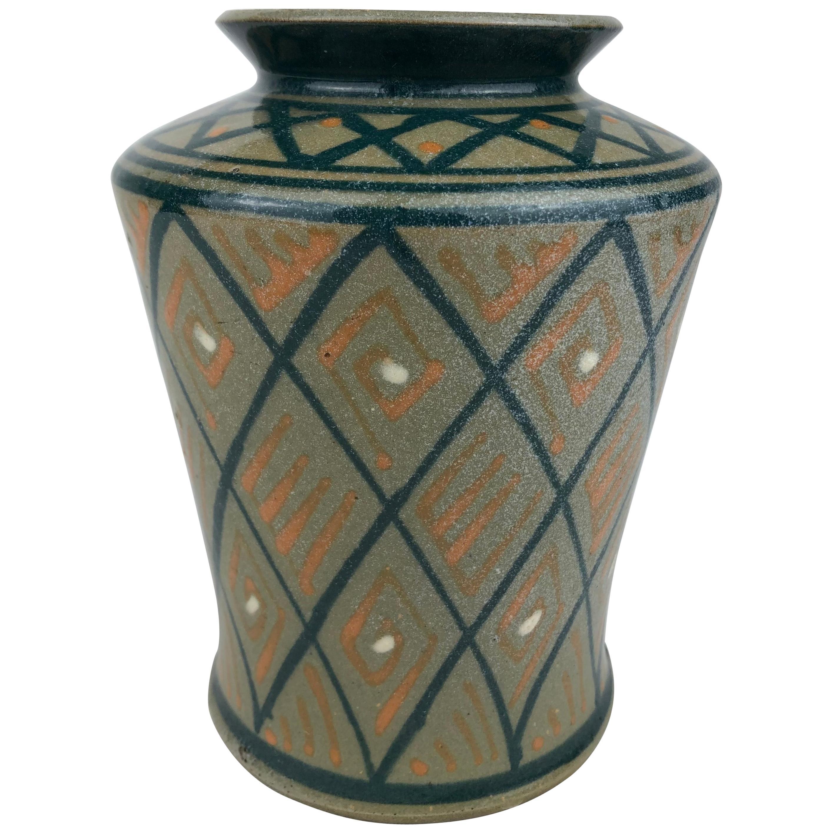 French Art Deco Ceramic Vase or Small Planter