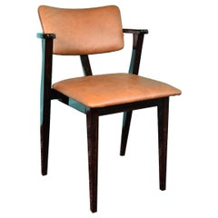 French Art Deco Chair in Macassar Wood