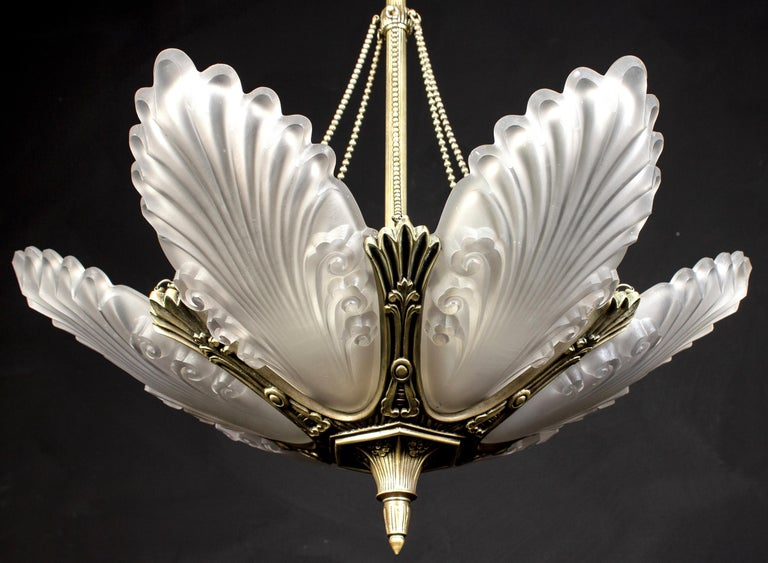 1930s French Art Deco Chandelier, 1930 For Sale