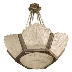 French Art Deco Chandelier by Hettier Vincent