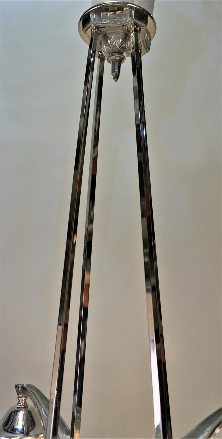 French Art Deco Chandelier by Muller Freres For Sale 1